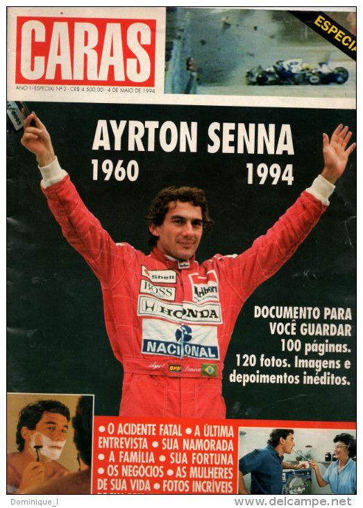 Caras Brésil 4 Mai 1994 : Special Ayrton Senna : 100 pages et 120 photos !