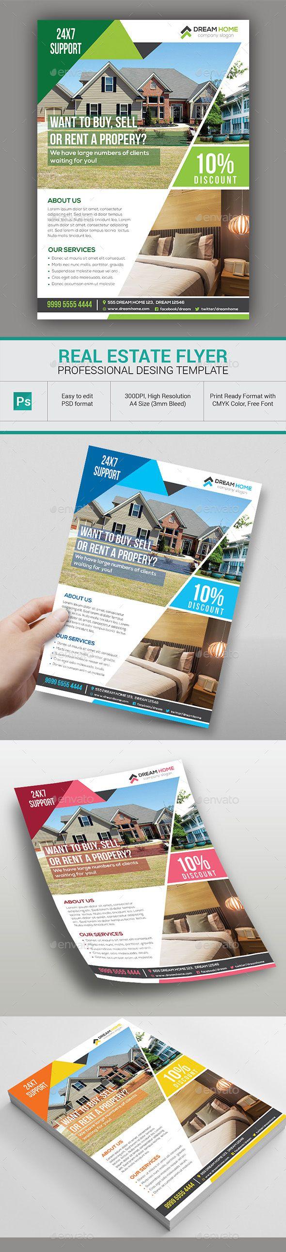 Real Estate Flyer Real Estate Flyers Flyer Template And Adobe - Photoshop real estate flyer templates