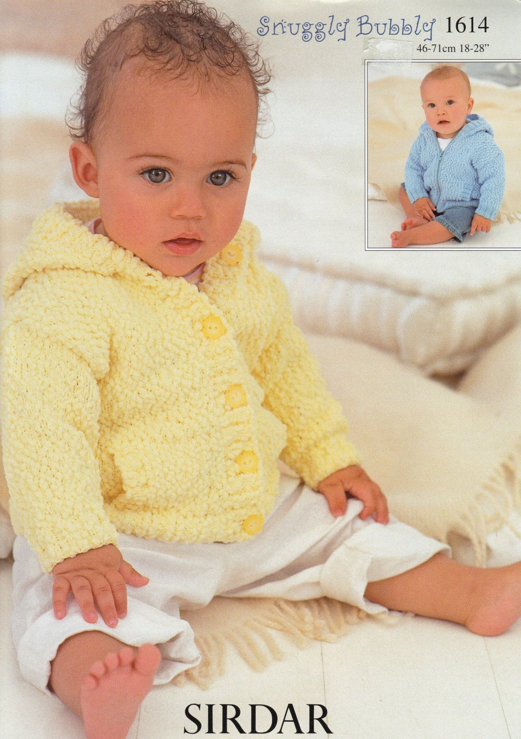Baby Sweater Knitting Pattern Sirdar Snuggly Bubbly