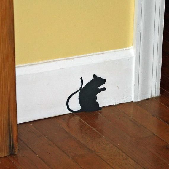 Halloween Decor Wall Decal Creepy Stair Mice With Mouse