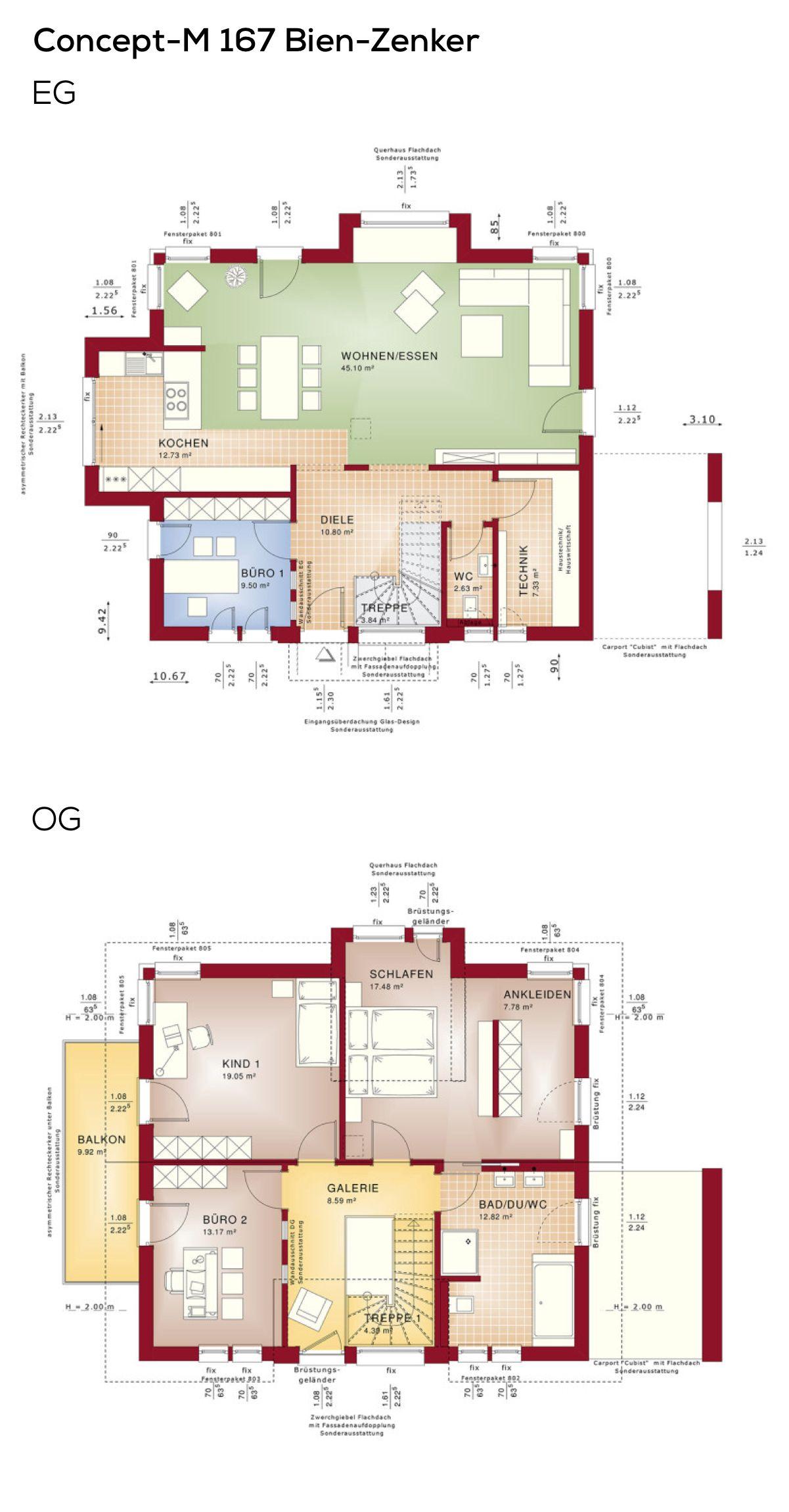 Grundriss satteldach haus architektur modern treppe mit for Architektur einfamilienhaus grundrisse