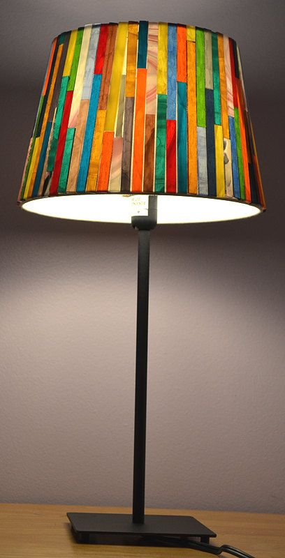 Glass Mosaic Lamp Shade By Nymosaicart On Etsy Stained Glass