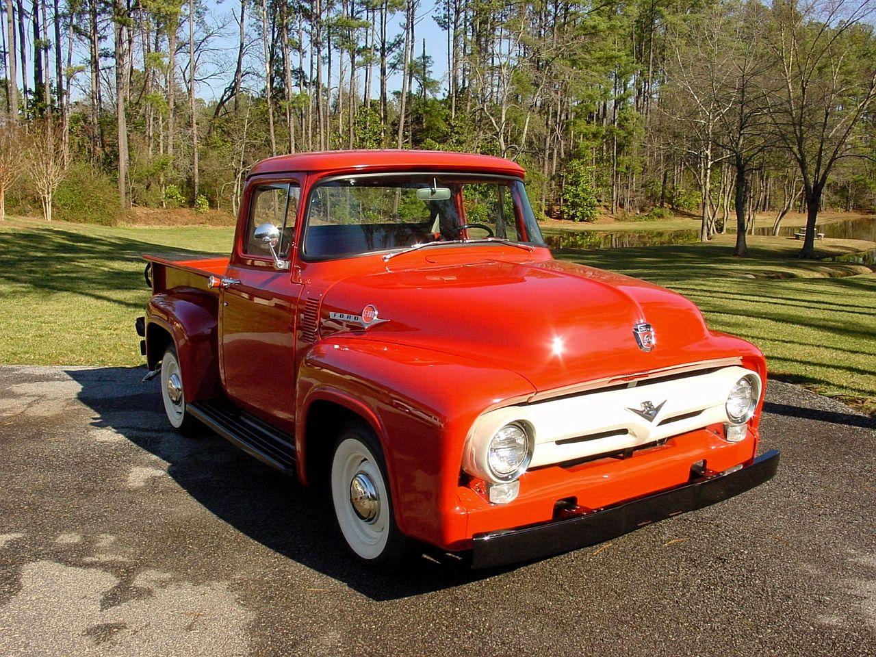 1956 Ford F 100 Pickup Trucks Classic Trucks Ford Pickup Trucks