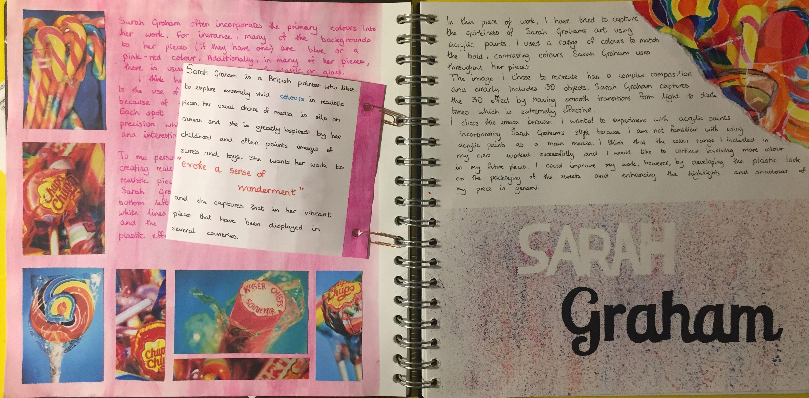 Sarah Graham Title Page Art Gcse Food