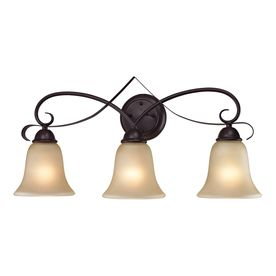 Westmore Lighting Colchester 3 Light 12 In Oil Rubbed Bronze Bell Integrated Led Vanity