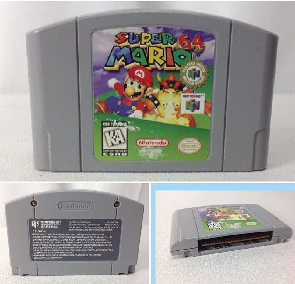 Super Mario 64 For Nintendo 64 N64 Game Pak Cartridge Cleaned Tested Nintendo Super Mario Electronics Games Paks
