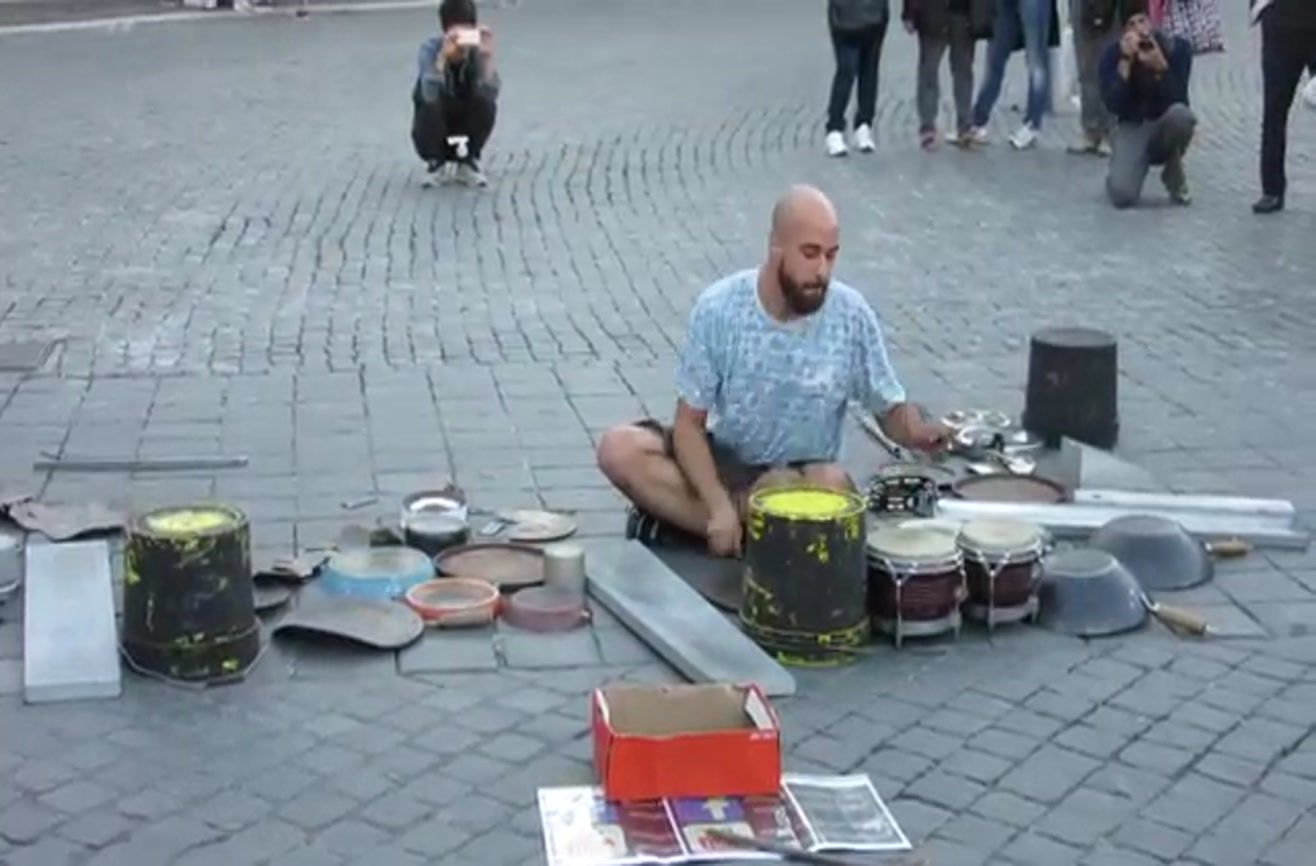 What this drummer uses to play music will make your eyes pop!!