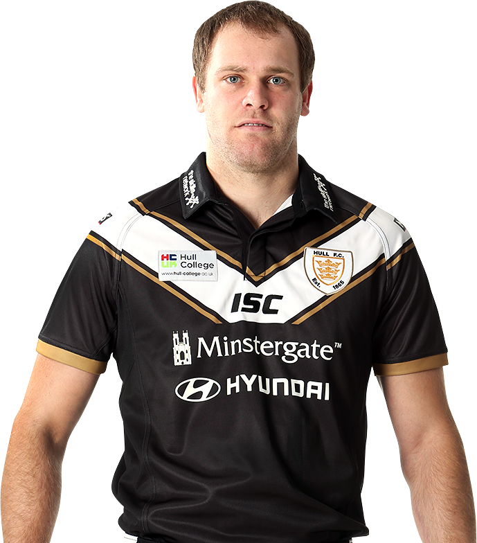 Richard Whiting modeling the NEW Hull FC 2013 home shirt