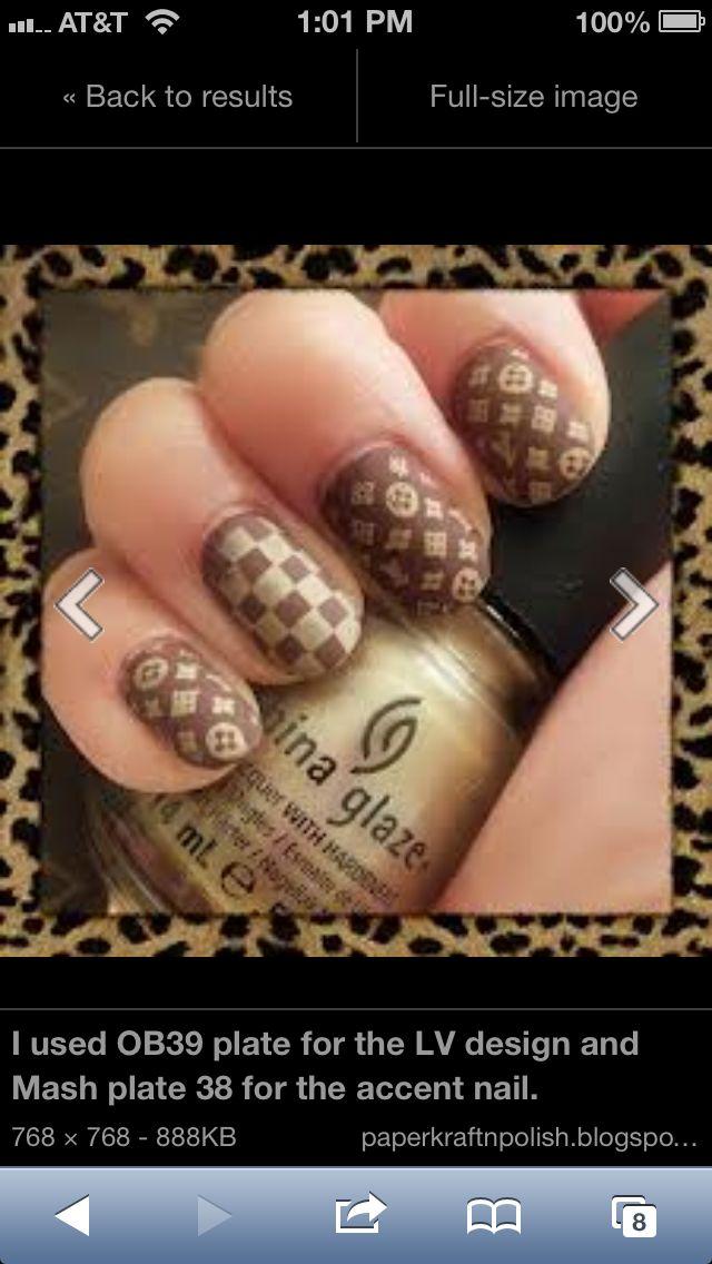 Louis Vuitton :) nail loveeee | Cool nails | Pinterest | Louis ...