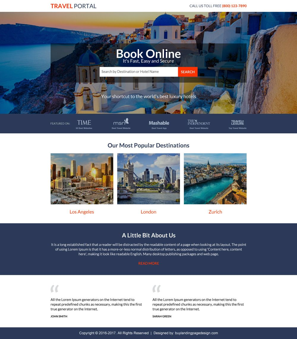 Travel Landing Page Design To Capture Lead And Boost Your Business In 2020 Landing Page Design Best Landing Page Design Travel