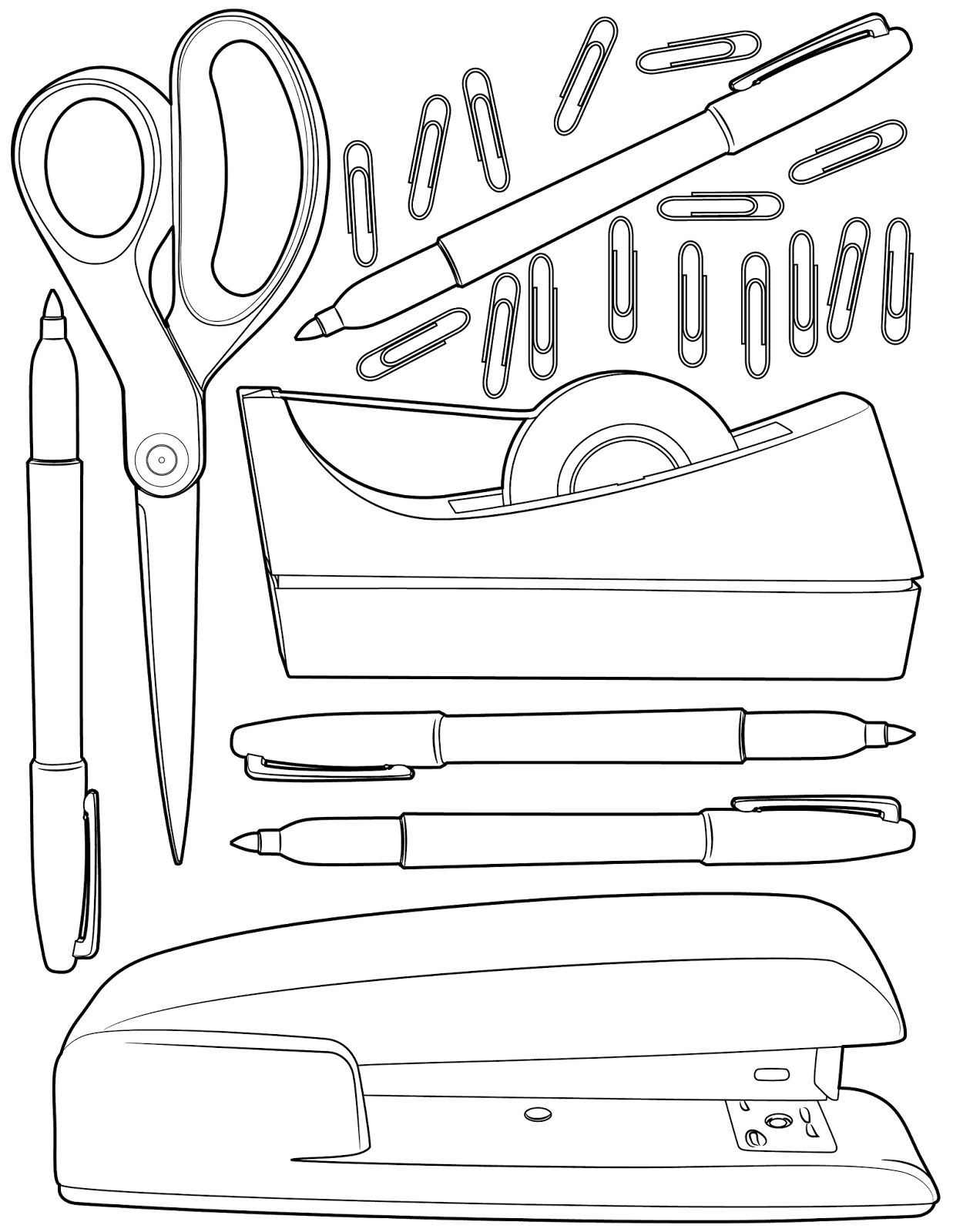 The Spinsterhood Diaries: Sunday Coloring Page: Office