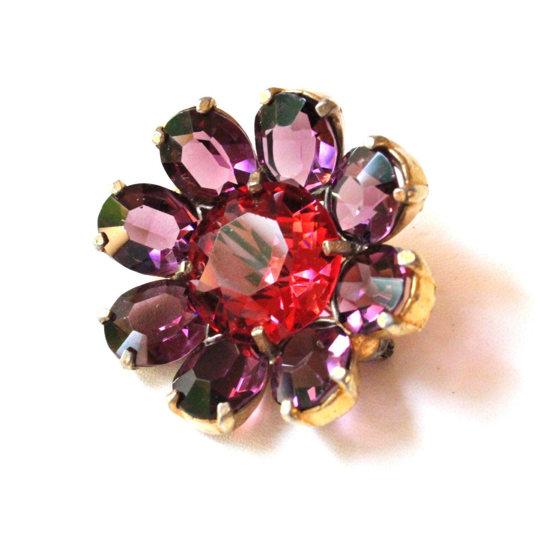 Lovely Art Nouveau Enamel Violet For Sale at 1stdibs