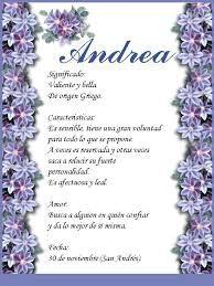 Significado Del Nombre Andrea Buscar Con Google Andrea Words Search