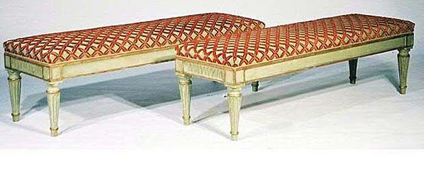 Paire de banquette de style Louis XVI