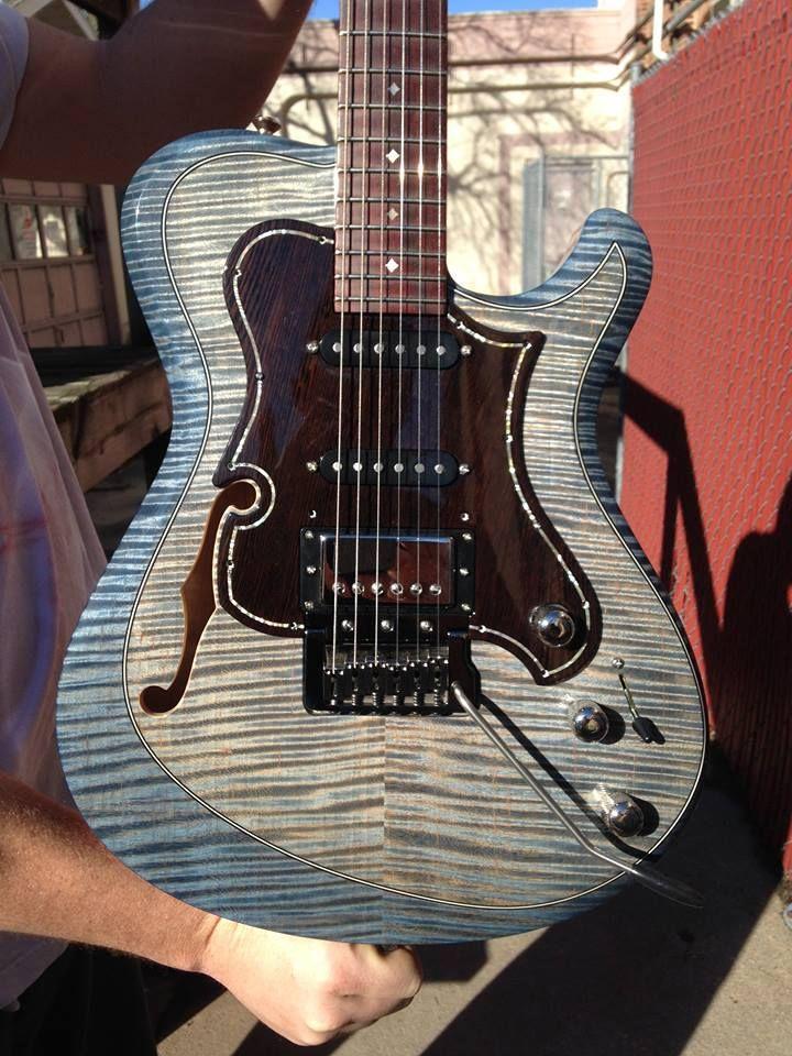 Knaggs Guitars Choptank T1 Trem Hollowbody Single Purf In Winter