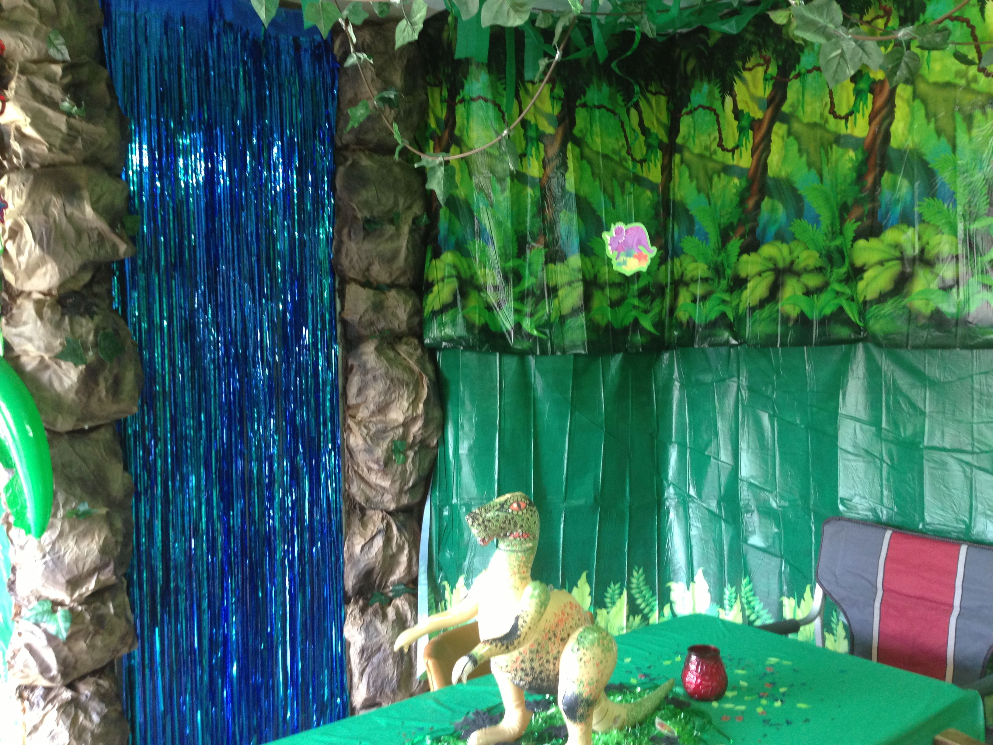Dinosaur Party Decorations Waterfall Rocks Made Of