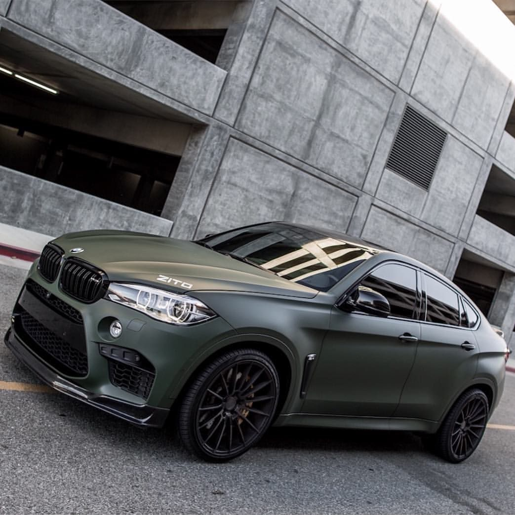 Bmw X6m For Sale: Matte Green BMW X6M On @zitowheels