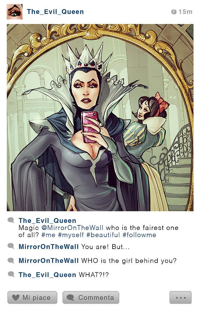 The Evil Queen and Snow White: Disney #selfies
