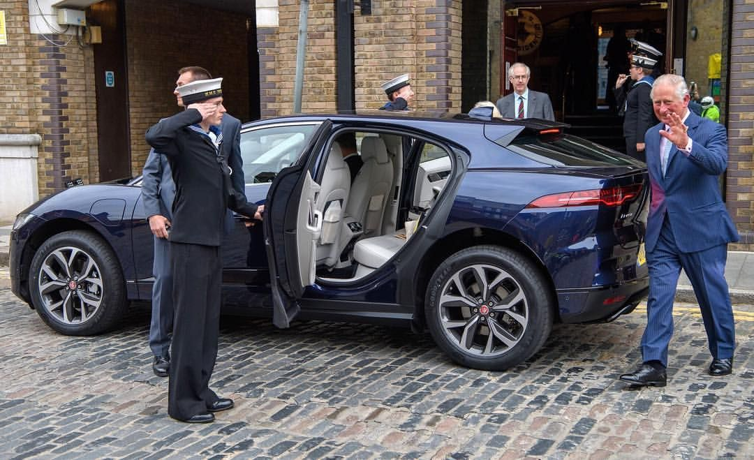 Hrh The Prince Of Wales Used His Jaguar Ipace For The First Time Yesterday In London At The Royalalberthall To Support Jaguar Land Rover Land Rover Jaguar