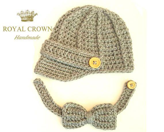 Baby Boy Hat Newborn Boy Hat Baby Boy Gift Crochet Boy Beanie Baby Boy Photo Prop Boy Hat For Pictures Newsboy Hat 1st Birthday Photo Prop