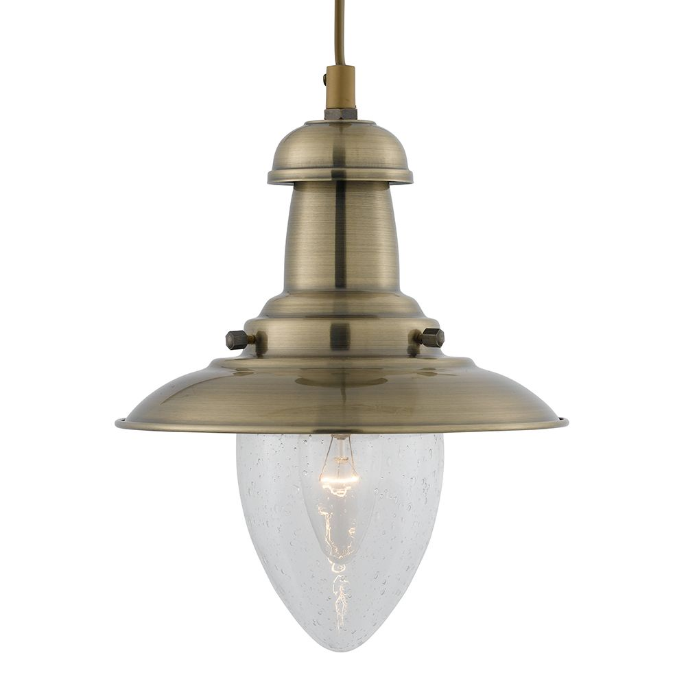 antique pendant lighting. Searchlight Fisherman Baby Antique Brass Single Lamp Pendant Ceiling Light With Clear Seeded Oval Glass Shade Lighting L