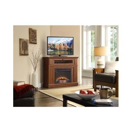 Corner Tv Stand Fireplace Electric Entertainment Center Heater Media