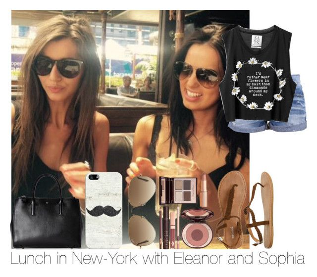 """""""Lunch In New-York With Eleanor And Sophia"""" by hazzgirl03 ❤ liked on Polyvore featuring beauty, Wet Seal, Ray-Ban, Casetify, Charlotte Tilbury and Anya Hindmarch"""