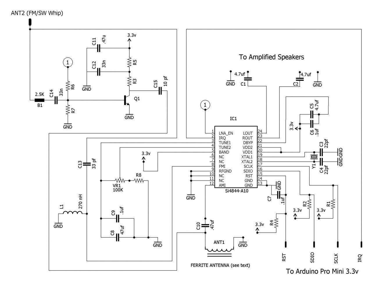 Radio receiver schematic | Arduino, Rasphberry Pi, intel
