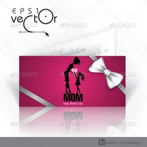 Happy Motheru0027s Day Happy mothers, Invitation card design and Template - fresh invitation template vector