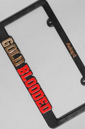 Gold Blooded (Black/Red License Plate Frame) | Gift Ideas ...