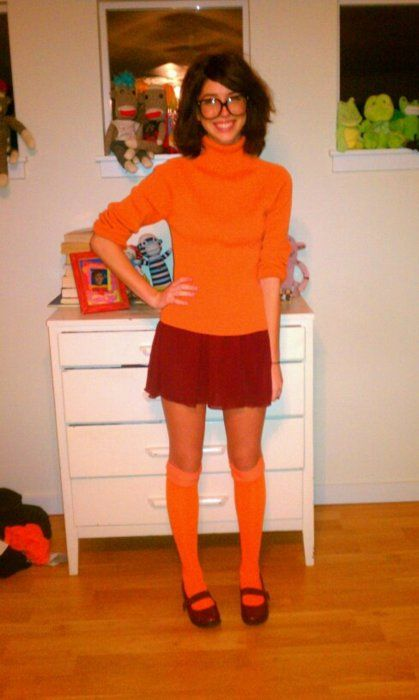 Not thinking of dressing up as velma myself she just looks too darn adorable and awesome more also fun homemade halloween costumes on  budget rh pinterest