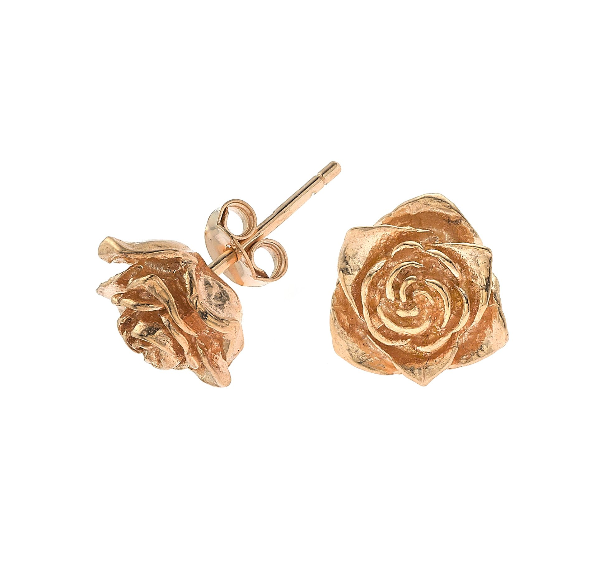 DOWER & HALL Entwined 18ct Rose Gold Plated on Silver Infinity Stud Earrings NowSxvT