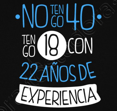 Camiseta 40 Años Hombre Fondo Oscuro Feliz 40 Cumpleaños