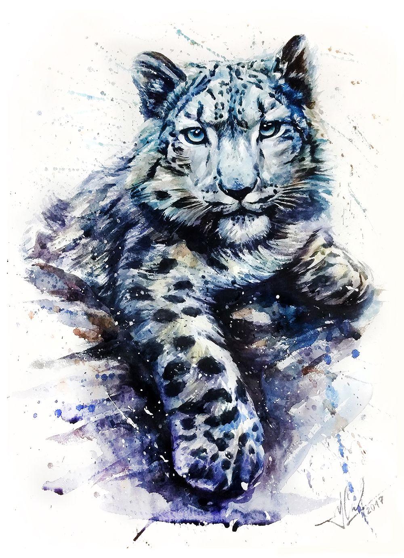 Black Panther Watercolor Painting Print By Slaveika Aladjova Art