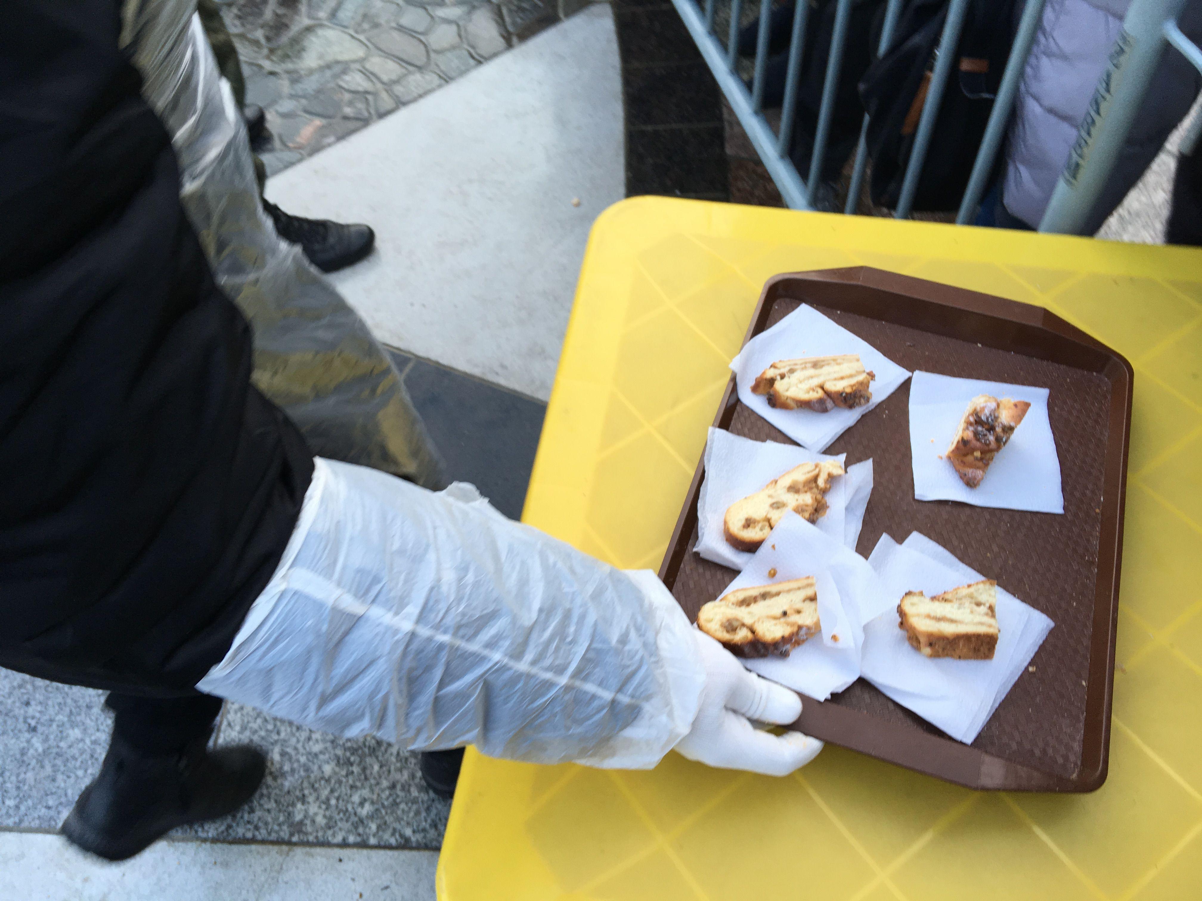 Поднос с кусками кранцевского пирога