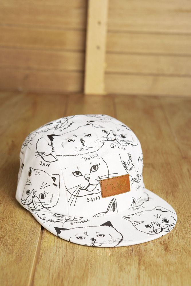 five panel hat with cats? NEED THIS