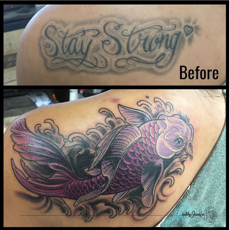 Koi Fish Cover Up Tattoo Cover Tattoo Koi Fish Cover Up Tattoos