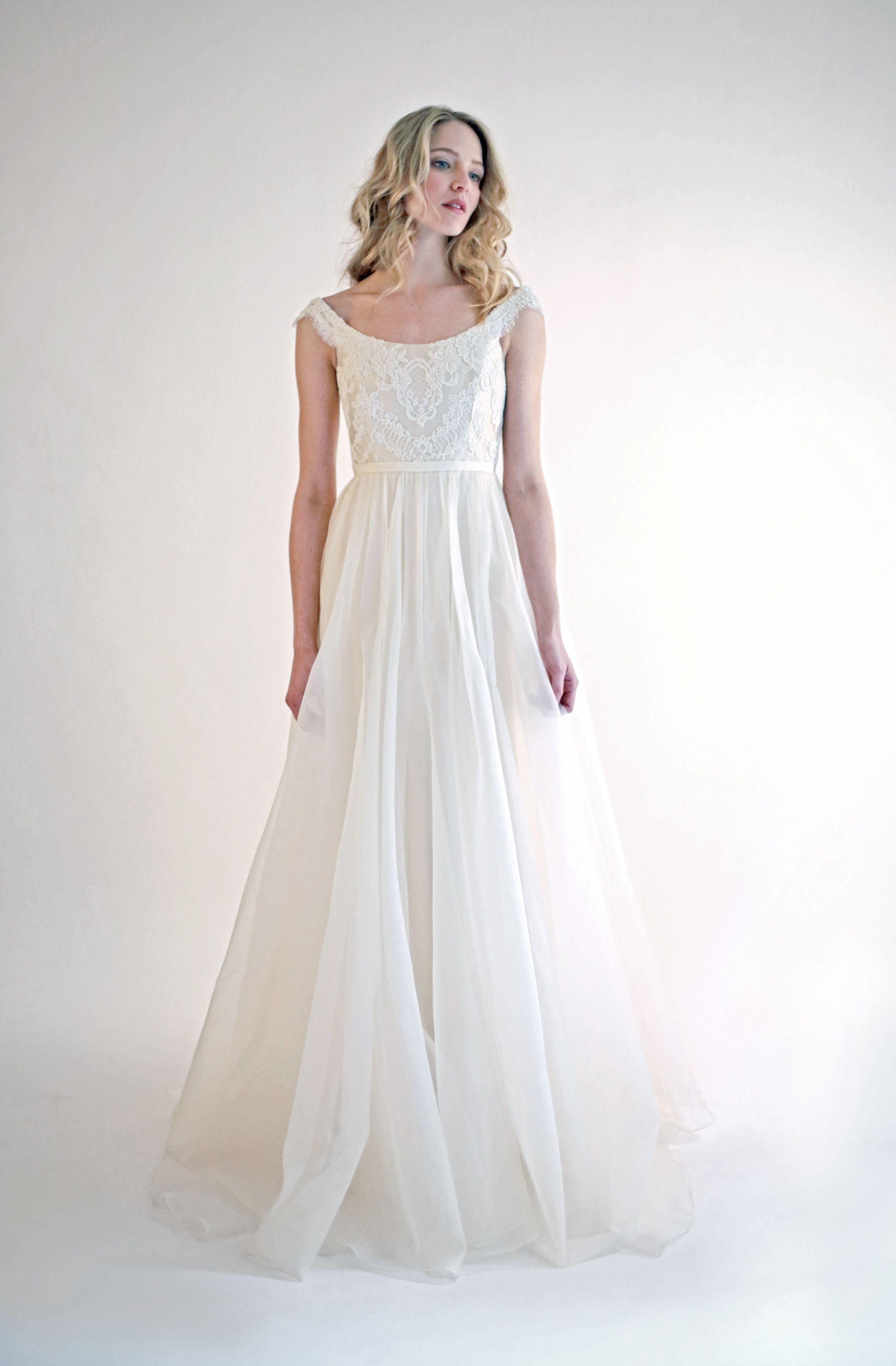 Alia bastamam wedding dress  The Adéle dress is an Ivory scoopneck gown with a full silk organza