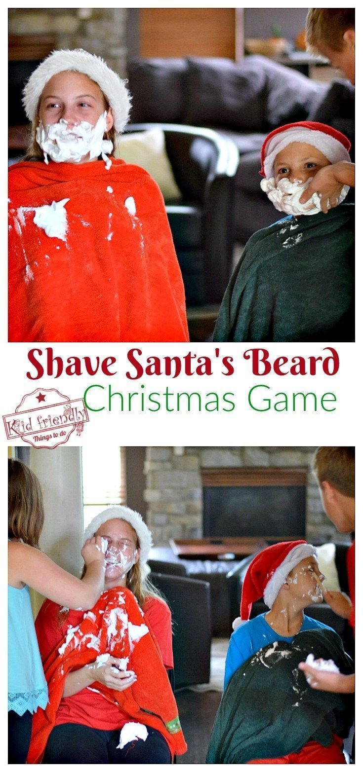 Spielideen Weihnachtsfeier Firma.Shave Santa S Beard Christmas Game For Kids Teens And Family To