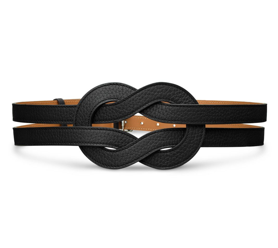 d0bc5f1c1c3 Gipsy Hermes women s belt in black taurillon clemence leather Ref.  H065979CK89075  1
