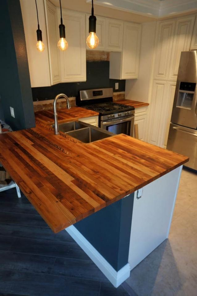 This Custom Countertop Was Built With Our Reclaimed Douglas Fir