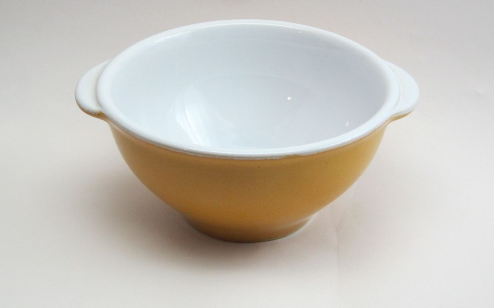 Vintage Emile Henry Classic French ion Soup Bowl or Gratinee Gold