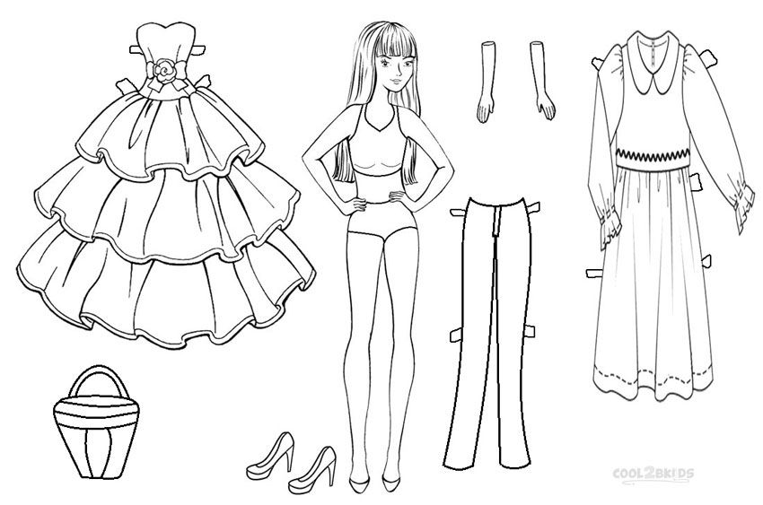 Now, with the availability of paper doll coloring pages