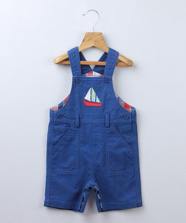 Take a look at this Dungaree Blue Boat Shortalls - Infant & Toddler by Beebay on #zulily today!