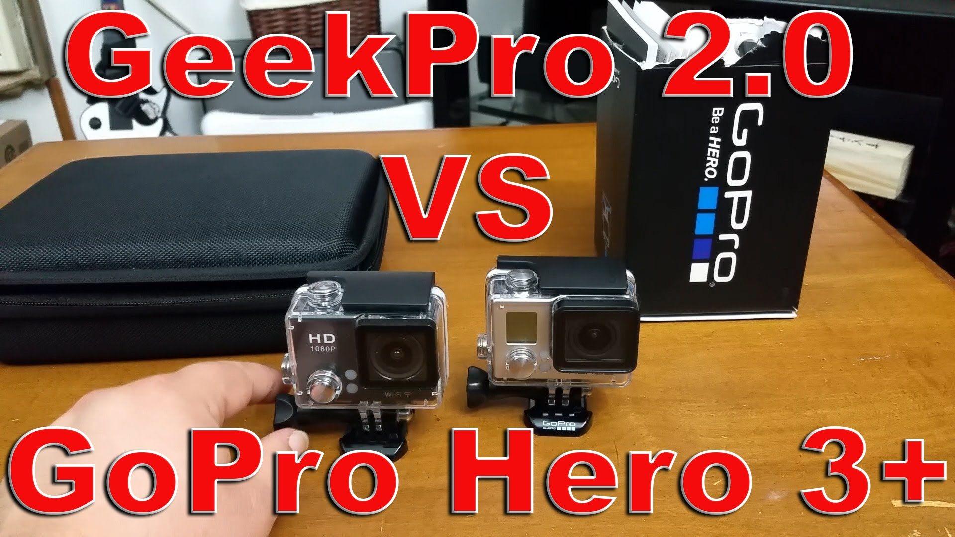 Geekpro Camera Review : Gopro hero vs geekpro p action cam comparo action