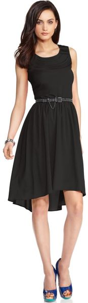MISS SIXTY    Sleeveless Belted High Low Hem