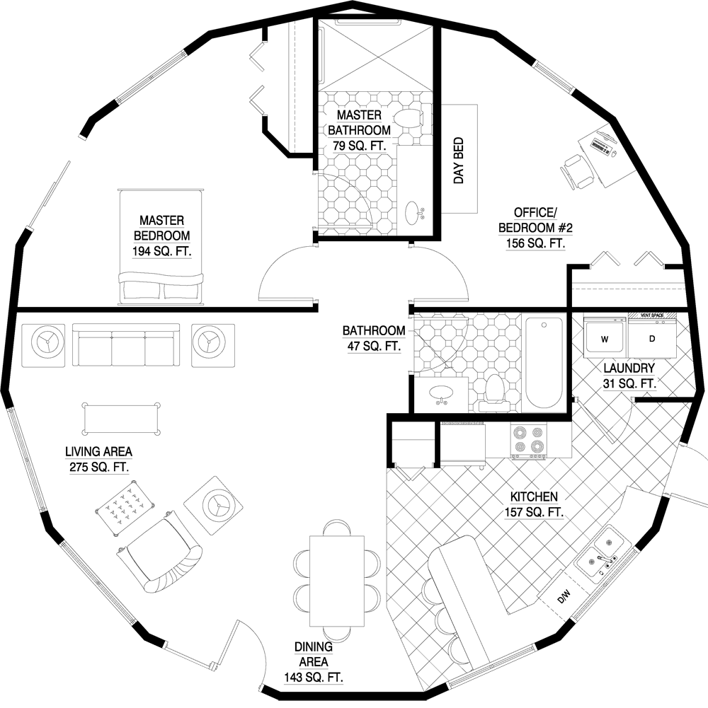 Floorplan Gallery Round Floorplans Custom Floorplans Round House Plans Custom Floor Plans Round House