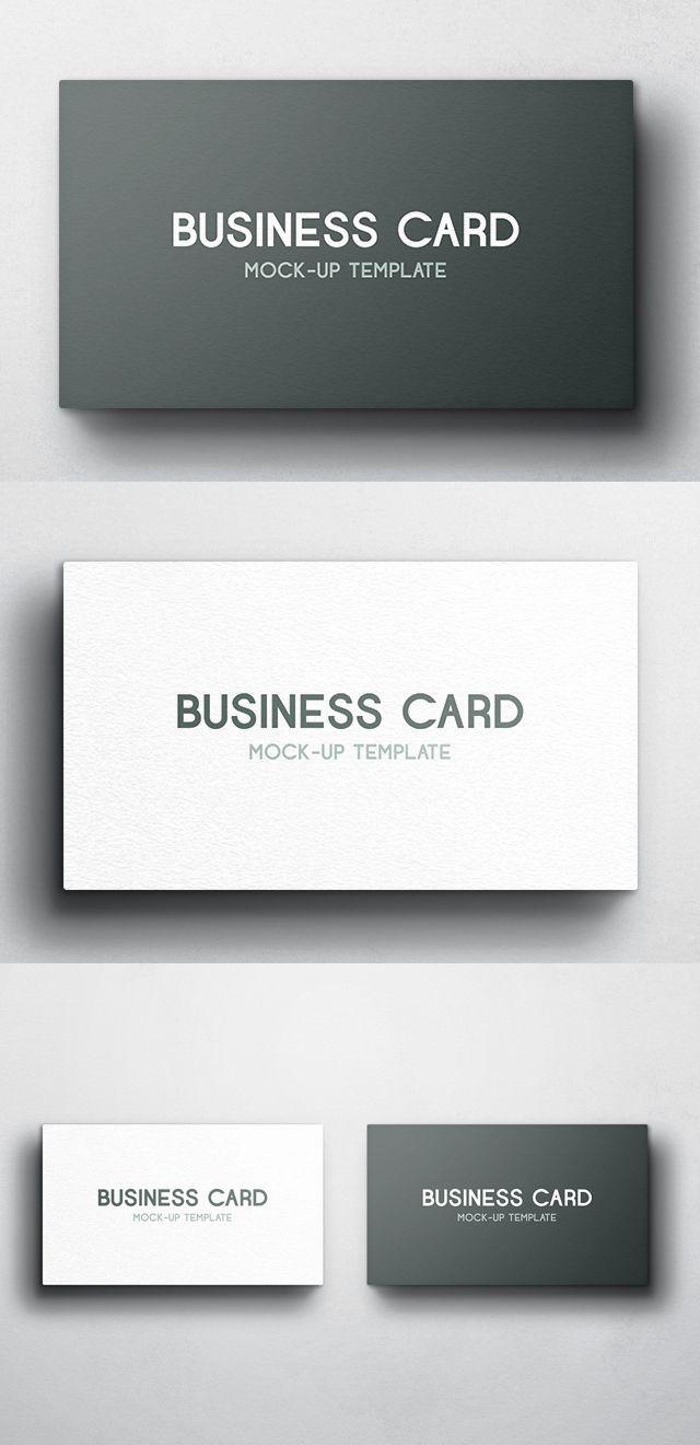 Free Business Card Mockup Vol 4 Mock Up Visitenkarten