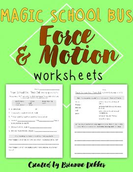 Magic School Bus Plays Ball Force And Motion Worksheets Magic School Bus Magic School Magic School Bus Videos