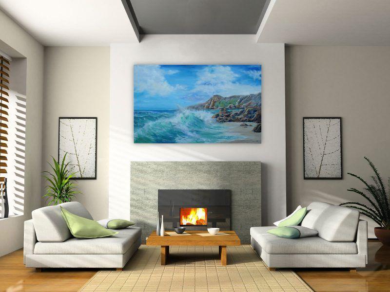 Wohnzimmergestaltung mit Farben und Bildern - 70 frische - welche farbe für wohnzimmer